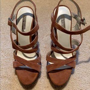 BCBG GENERATION strappy sandals.